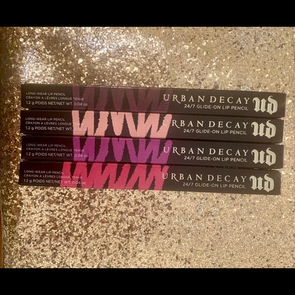 Urban Decay Other - 4 Urban Decay 24-7 Lip Pencils